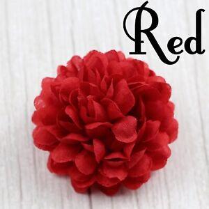 "30-100Pcs 2"" Artificial Silk Ball chrysanthemum Flowers Heads Fake Hydrangea DIY"
