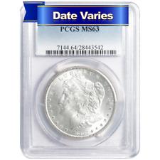 1878 to 1904 $1 Morgan Silver Dollar PCGS MS63 Random Year