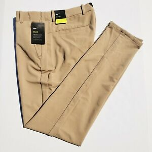 Nike Vapor Flex Men's 32 x 34 Khaki Beige Slim Fit Golf Pants BV0273-297