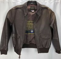 AVIREX Vintage Leather Jacket Flight Bomber A-2 US Army Air Force Size 38 Small