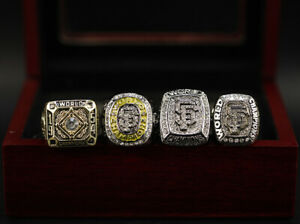 MLB San Francisco Giants World Series Championship Rings 4pcs Set w Box