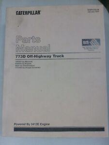 Caterpillar 773D Off Highway Truck parts manual. Genuine Cat book.