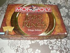 LORD OF THE RINGS MONOPOLY Trilogy Edition 100% Complete Nice tokens & Ring