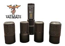 Tattoo Machine Interchangeable Aluminum Grip w/ Built-In Wireless Power Supply