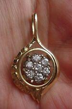 LADIES VINTAGE CUSTOM 7 DIAMOND .70 CT  PENDANT 14K Y/WG #70DPC
