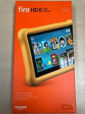 """NEW Amazon Fire HD 8 Kids Edition Tablet 8"""" Display 32GB (7th Gen) 2017 - YELLOW"""