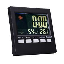 Outdoor Digital Thermometer Hygrometer Humidity Weather Meter Indoor LCD Clock