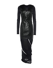 NEW $950 Y/PROJECT Fitted Convertible Long Sleeve Dress In Black M