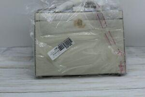 $295 Ralph Lauren Classic Laine Pebbled Leather Satchel Women Handbag Cream NWT