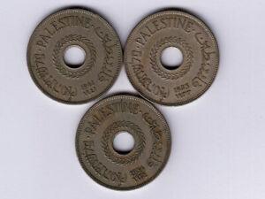 Palestine:KM-5,20 Mils Lot of 3 ,1933,1934,1941 * Key Dates * VF *