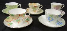 Five Vintage Radfords Bone China Cups and Saucers