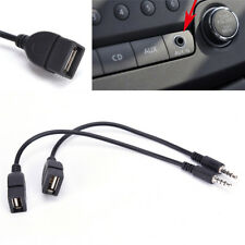 3.5mm Male AUX Audio Plug Jack To USB 2.0 Female Converter Cable Cord For Car KY