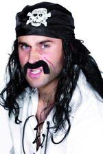 Bandana nera da pirata con teschio fazzoletto pirati