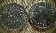 """2 - Coins - Sixpence For Wedding or Charm - """"Something Old Something New"""""""