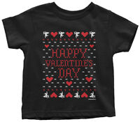 Happy Valentine's Day (Ugly Sweater) Toddler T-Shirt Heart Cupid Gift