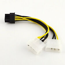 10pcs Dual 4 Pin Molex IDE to 8 Pin PCI-E Express Video Card Power Adapter Cable