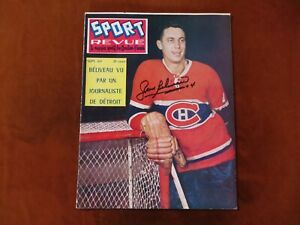 Vintage Jean Beliveau Signed Sport Revue Magazine September 1960 Hockey