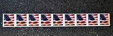 2017USA #5158 Forever U.S. Flag US  PNC Plate Number (#B1111) Coil Strip 9 (BCA)