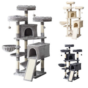 160cm Cat Tree Activity Tower Stand with Plush Perches and Sisal Posts