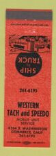 Matchbook Cover - Western Tach and Speedo Commerce CA