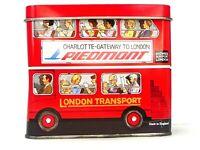 London Bus Tin Biscuits Advertising Piedmont Double Decker VTG Transport