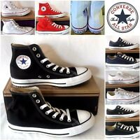 Converse All Star Chuck Taylor HI Low Top Mens Womens Kids Shoe Size White Black