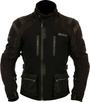 Weise Onyx Mens Black Waterproof Textile Motorcycle Jacket New
