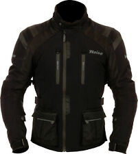 Weise Onyx Mens Black Waterproof Textile Motorcycle Jacket New RRP £249.99!!