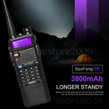 Baofeng UV-5R Radio Transceiver 3800mah Battery VH/UHF Walkie Talkie US Plug