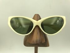 Vintage Ivory White Cat Eye Eyeglasses Sunglasses Italy
