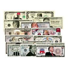 Set of 15 diff. ultimate fantasy paper money USA President Donald Trump