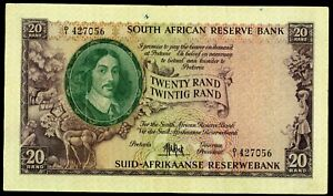 🔸SOUTH AFRICA 20 RAND 1961 P-108 F-VF (M-094)🔸