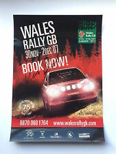 Marcus Gronholm Hand Signed Cardiff Wales Rally Poster Rare GB 2007.