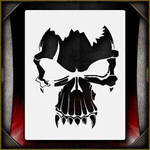 """Skull 1"" Airbrush Stencil Template Airsick"