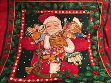 Santa With Toys Pillow Cover-handmade-new- W Flap Opening- 16 X 16 Inch.