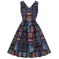 Womens Ladies 50s Style Notre Dame De Paris Rockabilly Party Retro Swing Dress