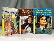 Cherry Ames Flight / Seniior / Visiting Nurse Helen Wells 3 Girls / Kids Books