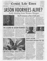 1980 Friday The 13th Crystal Lake Times > Jason Voorhees Alive? > Camp > Print