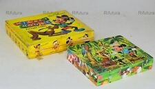 Walt Disney giocattolo cubetti Topolino Mickey Mouse legno old toys 20 cobes-1CS
