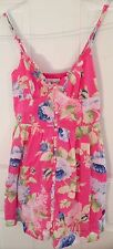 Abercrombie & Fitch New York Shabby Summer Roses Chic Sun Dress Size S Sweet