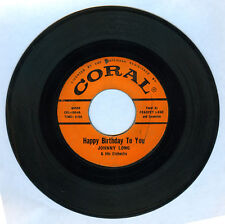 Philippines JOHNNY LONG & HIS ORCHESTRA Happy Birthday To You OPM 45 rpm Record