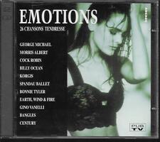 2 CD COMPIL 26 TITRES--EMOTIONS--ALBERT/ROBIN/KORGIS/TYLER/VANELLI/BANGLES...