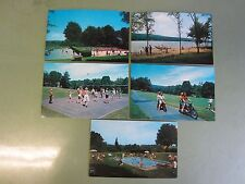 """Five (5) - Vintage  Postcards From """"Happy Acres"""" Resort in Middlefield, Ct - NOS"""