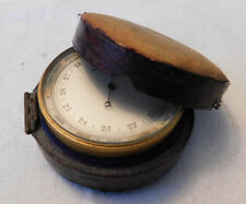 Lovely Vintage Victorian Compensated Small Pocket Barometer In case