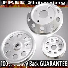 SILVER Crank Pulley Kits for 89-98 240SX SR20 ENGINE S14 S15 ONLY
