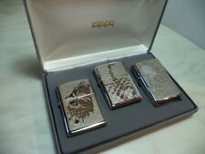 ZIPPO LIGHTER MOD SET ANIMAL 3 PEZZI WOLF SPIDER SCORPIO NEW VERY RARE