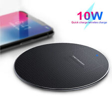 10W Fast Wireless Charger For Samsung Galaxy S10+ S9 S8 S7 Note 10 9 iPhone 8 X