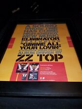 Zz Top Gimmie All Your Lovin Rare Original Promo Poster Ad Framed!