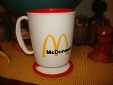 70's 80's Vintage McDonald's Trip sip cup w holder & lid plastic travel mug NOS
