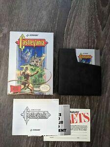 NES Nintendo Castlevania Game Cartridge Manual Box Complete CIB